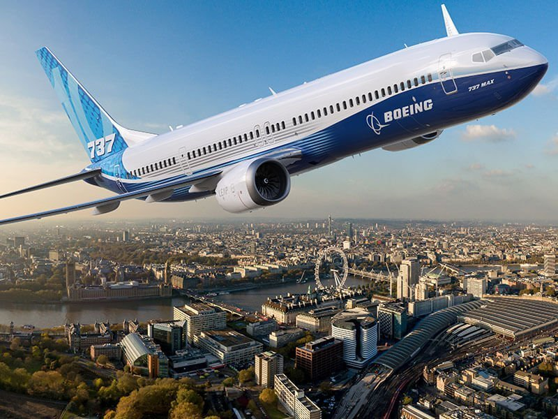 CGI Boeing 737MAX over London