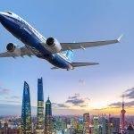 CGI Boeing 737MAX over Shanghai