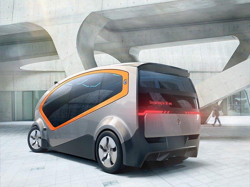 CGI Fisker electric car rear view