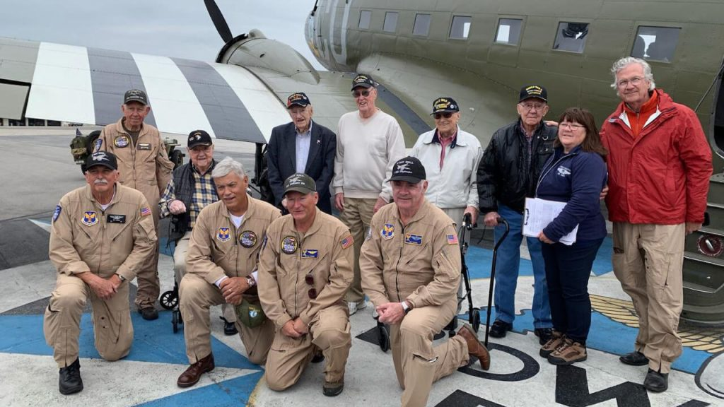 WWII Vets with D-Day Doll