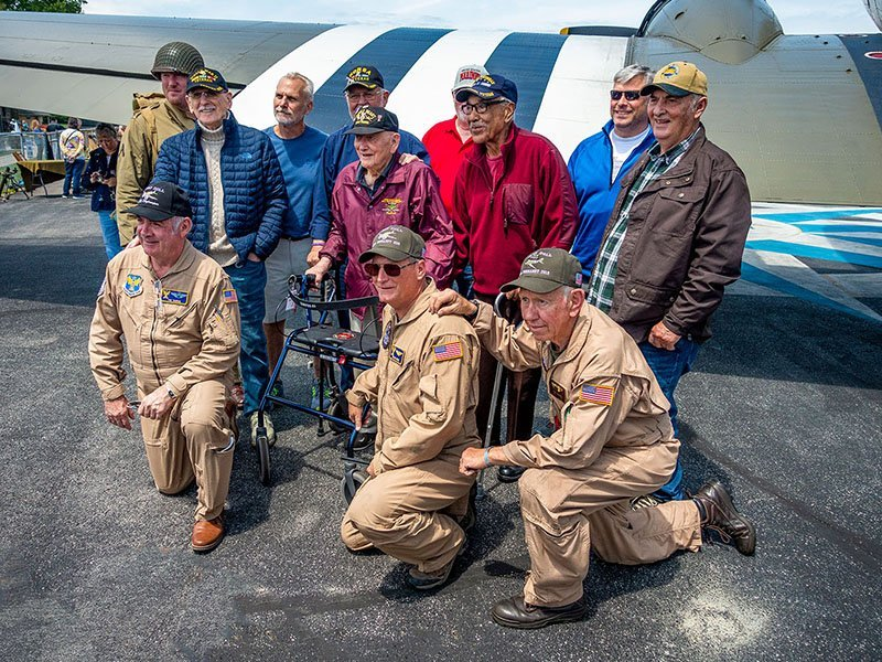 D-Day Doll crew and supporters