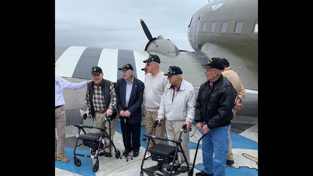 WWII Veterans with D-Day Doll