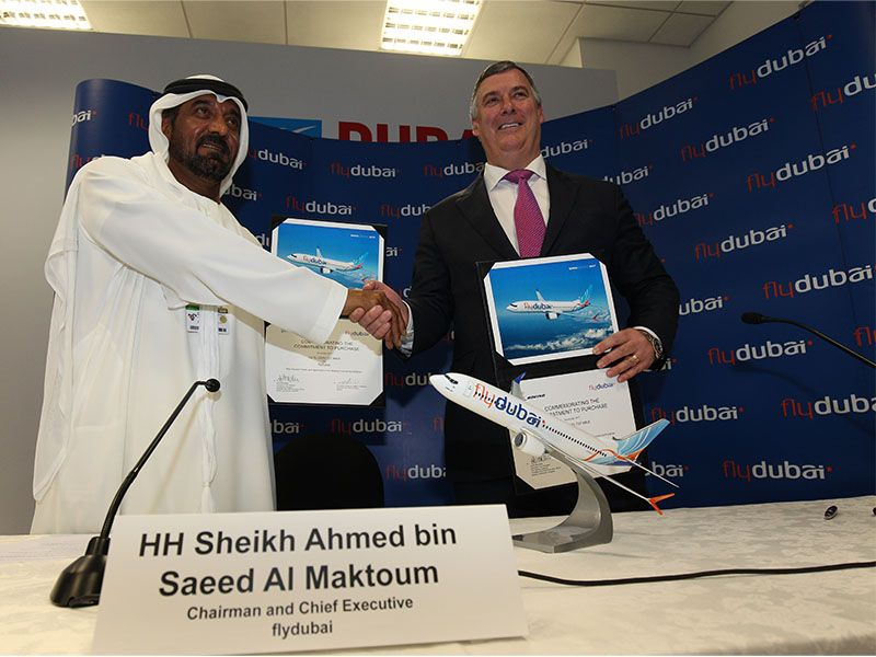 Fly Dubai - two men shaking hands