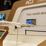 ACJ A330neo airline model for tradeshows