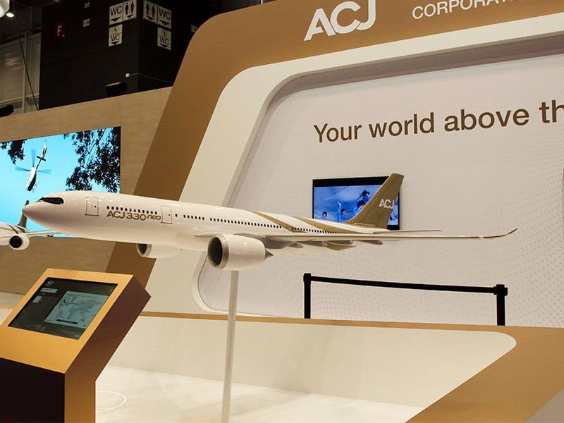 1/20 scale ACJ A330neo aircraft model