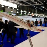 Aerion bizjet model - airline models for tradeshows