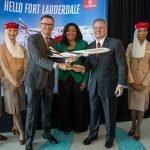 Emirates celebrates new route