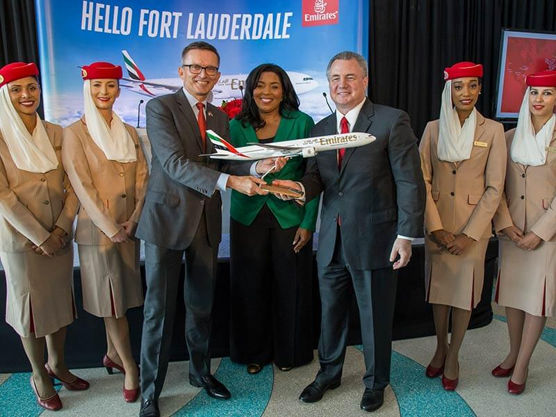Emirates celebrates new route