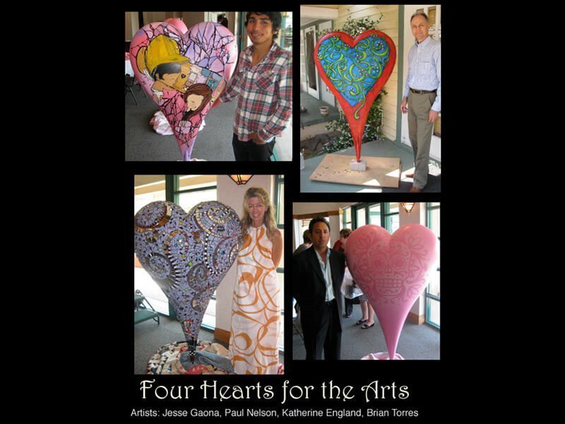 Four Hearts for the Arts poster