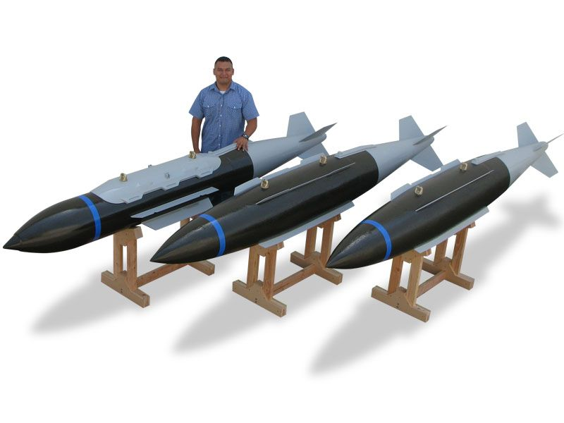 full size bomb models
