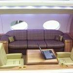G650 Cutaway Interior Divan