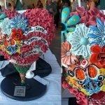 """18"""" heart sculpture by local artist Brenda Steffensen"""