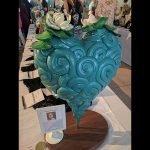 "18"" heart sculpture by Kelsey Kuykendall"
