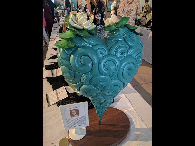 "18"" heart sculpture by Kelsey Kuykendall"