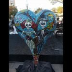 """60"""" heart sculpture by local artists for All the Arts"""