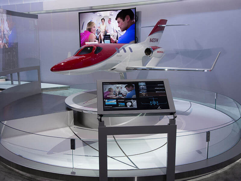 HondaJet model on display at NBAA 2014. / Photo courtesy of PacMin