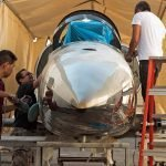After the Breitling Jet was repaired, it was buffed and polished until it shined.