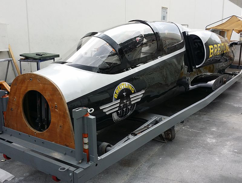 Within four weeks, the PacMin team repaired and refreshed a full scale Breitling Jet.