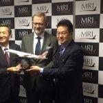 MRJ CEO with desktop model