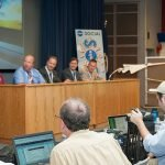 Media met to discuss research on supersonic flight and drones at NASA Social event. / Photo courtesy of NASA Armstrong Flight Research Center