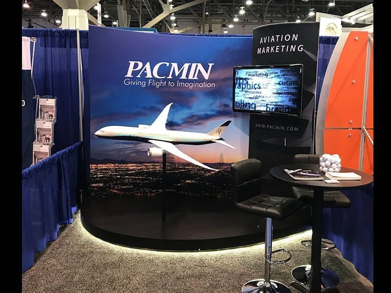 PacMin booth at NBAA 2017