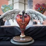 White fiberglass hearts made by PacMin are then decorated by artists and auctioned by the All the Arts for All the Kids Foundation with the proceeds funding art programs in Fullerton schools. // Photo courtesy of PacMin
