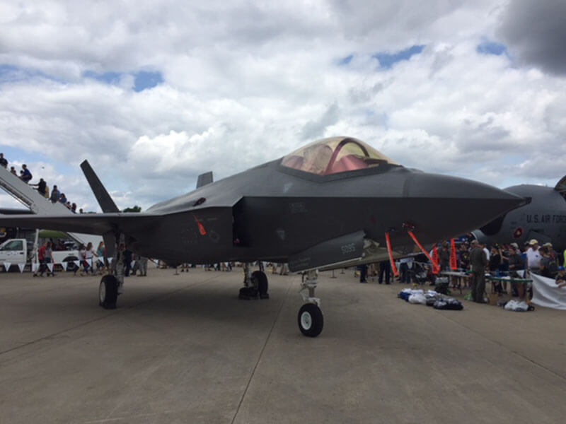 F-35 on display at Oshkosh