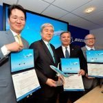 Korean Air and Boeing signed letters of intent for up to 50 737 MAX and two additional 777-300ER aircraft.