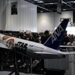 Fans take pictures of the 1/20 scale BB-8 Star Wars ANA Jet at Star Wars Celebration Europe. / Photo courtesy of PacMin and ANA