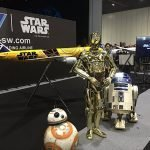 Star Wars characters, custom trade show exhibits