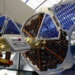 futuristic satellite mockup