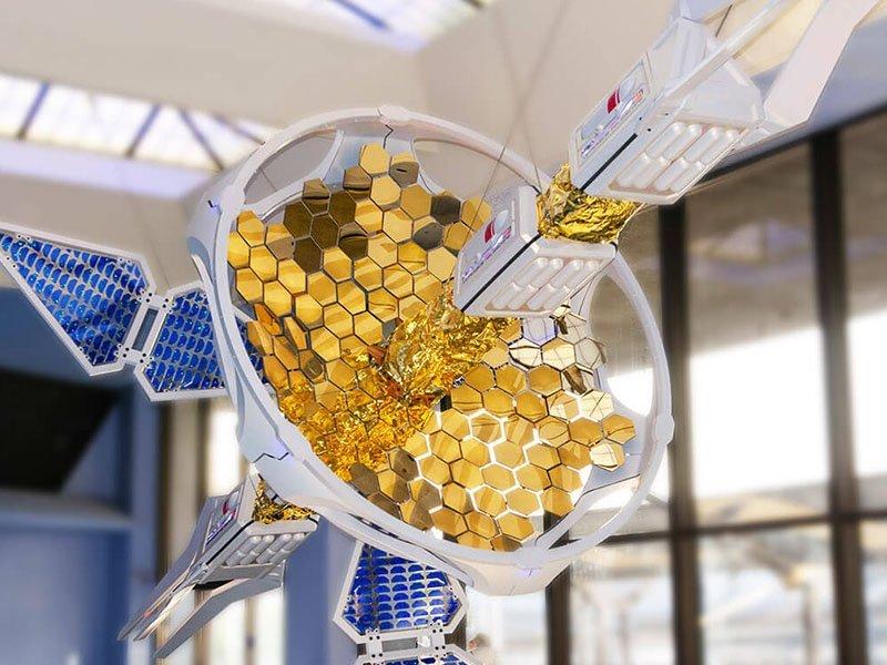 custom fabricated satellite model