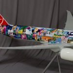 close-up of Turkish Airlines aviation model