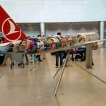 1/15 scale PacMin Turkish Airlines exhibit model measures over 16 feet long (5m) with a 14 foot (4.3m) wingspan. // Photo courtesy of Miami International Airport