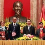US President Barack Obama and Vietnam President Trần Đại Quang were at the ceremony to witness the monumental signing. / Photo courtesy of VietJet