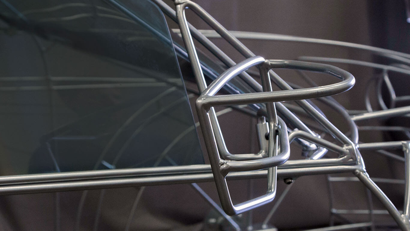 wireframe car side mirror