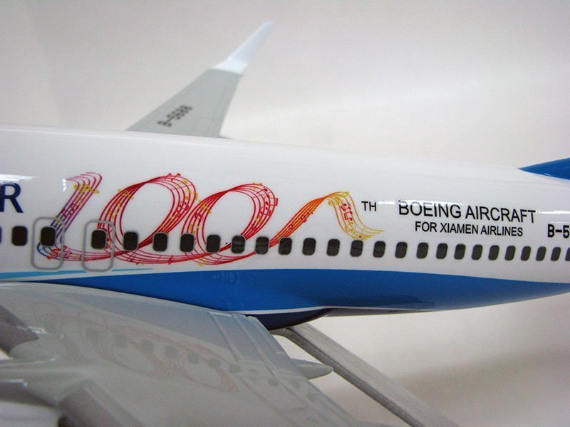 "Close-up of Xiamen Airlines' ""100th"" Boeing aircraft livery. // Photo courtesy of PacMin"